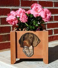 German Shorthaired Pointer Dog Garden Planter