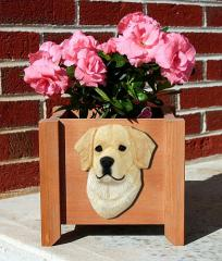 Golden Retriever Dog Breed Garden Planter - Cream