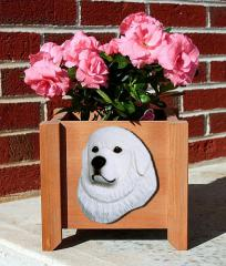 Great Pyrenees Dog Garden Planter