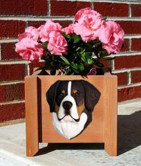 Greater Swiss Mountain Dog Garden Planter