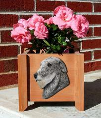 Irish Wolfhound Garden Planter - Grey