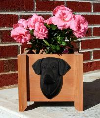 Labrador Retriever (Black) Garden Planter