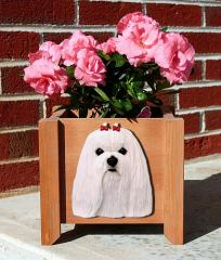 Maltese Dog Garden Planter