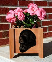 Newfoundland Dog Garden Planter - Black