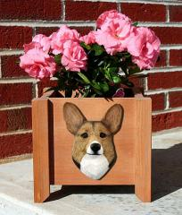 Pembroke Welsh Corgi Garden Planter - Sable