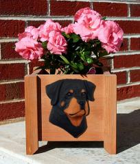 Rottweiler Dog Breed Garden Planter