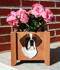 Saint Bernard Dog Garden Planter