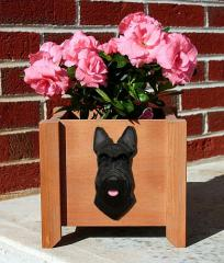 Scottish Terrier Dog Garden Planter - Black