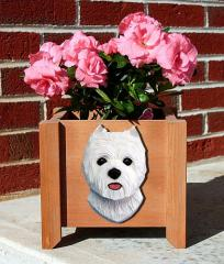 West Highland Terrier Dog Breed Garden Planter
