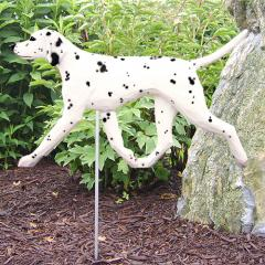 Dalmatian Dog Garden Stake - Black/White