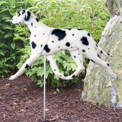 Great Dane (Natural) Dog Garden Stake - Harlequin