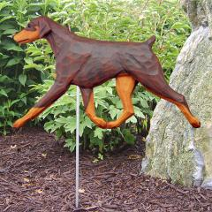 Doberman Pinscher (Natural) Dog Garden Stake