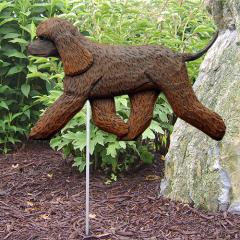 Irish Water Spaniel Dog Garden Stake