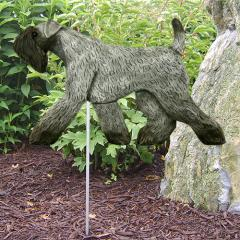 Kerry Blue Terrier Dog Garden Stake