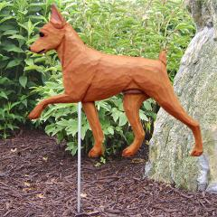Miniature Pinscher Garden Stake - Red