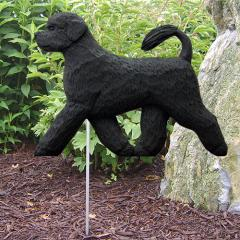 Portuguese Water Dog Garden Stake - Black