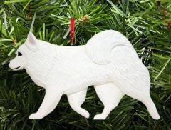 American Eskimo Dog in Gait Dog Ornament