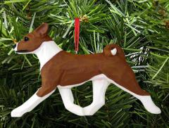 Basenji Dog in Gait Dog Ornament