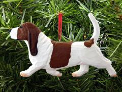 Basset Hound Dog in Gait Dog Ornament
