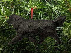 Newfoundland Dog in Gait Dog Ornament