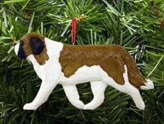 Saint Bernard Dog in Gait Dog Ornament