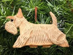 Scottish Terrier Dog in Gait Ornament