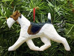 Wire Fox Terrier Dog in Gait Ornament