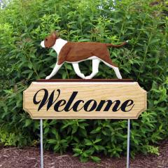 AmStaff Terrier Welcome Stake - Red/White