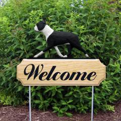 Boston Terrier Welcome Stake - Black