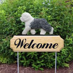 Old English Sheepdog Welcome Stake