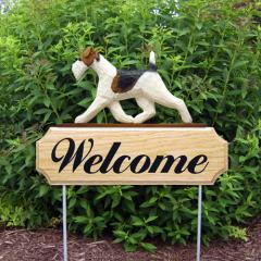 Wire Fox Terrier Welcome Stake