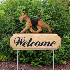 Airedale Terrier Dog Welcome Stake