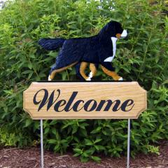 Bernese Mountain Dog Welcome Stake