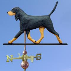 Black & Tan Coonhound Dog Weathervane