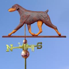Doberman Pinscher (Natural) Dog Weathervane