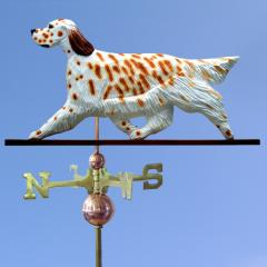 English Setter Dog Weathervane