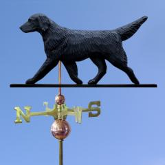 Flat-Coated Retriever Dog Weathervane