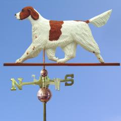 Irish Red and White Setter Dog Weathervane