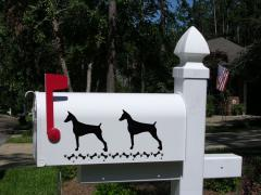 Doberman Pinscher Dog Mailbox