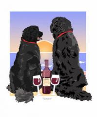 Newfoundland Sunset Dogs