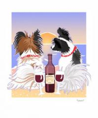 Papillion Sunset Dogs