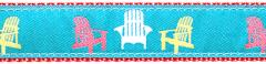 Collar - Coastal - Teal Adirondack Chair