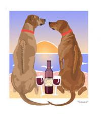 Rhodesian Ridgeback Sunset Dogs