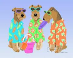 Airedale Terrier Time for the Beach Dog Print