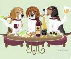 Beagle Dog's WINEing