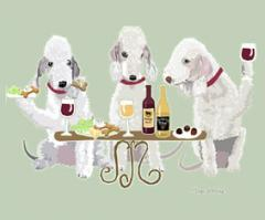 Bedlington Terrier Dog's WINEing