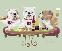 Bulldog Dog's WINEing