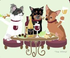 Chihuahua Dog's WINEing