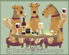 Airedale Terrier Dog's WINEing