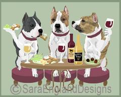 AmStaff Terrier Dog's WINEing